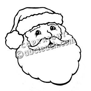 300x300 Monochrome Clipart Santa Claus