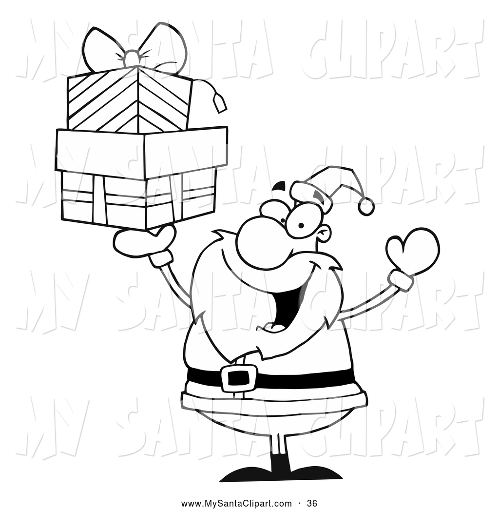 1024x1044 Royalty Free Black And White Stock Santa Designs