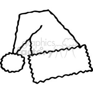 300x300 Royalty Free Black And White Santa Hat 378205 Vector Clip Art