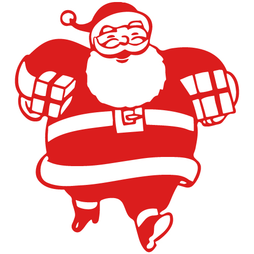500x500 Santa Delivering Presents Sticker Christmas Stickers Amp Decals