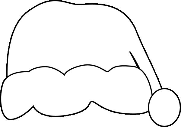 600x420 Black And White Santa Hat Clip Art