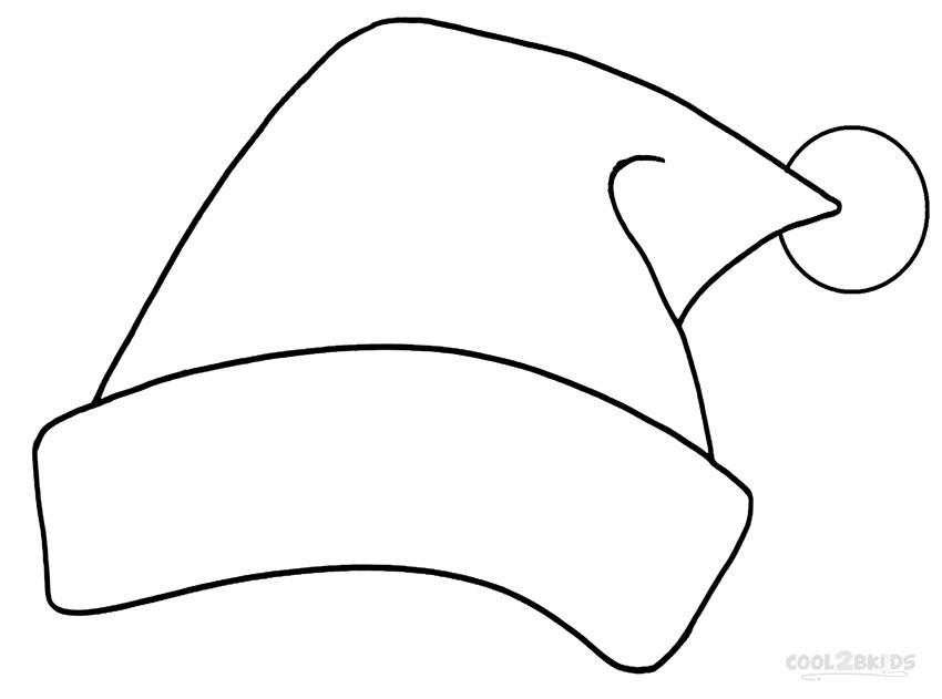 850x631 Santa Hat Clipart Black And White