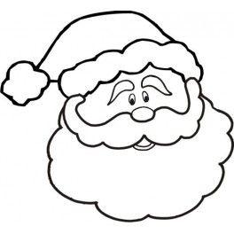 264x264 Santa Head Clipart