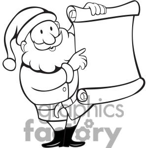 300x300 Santa List Clipart