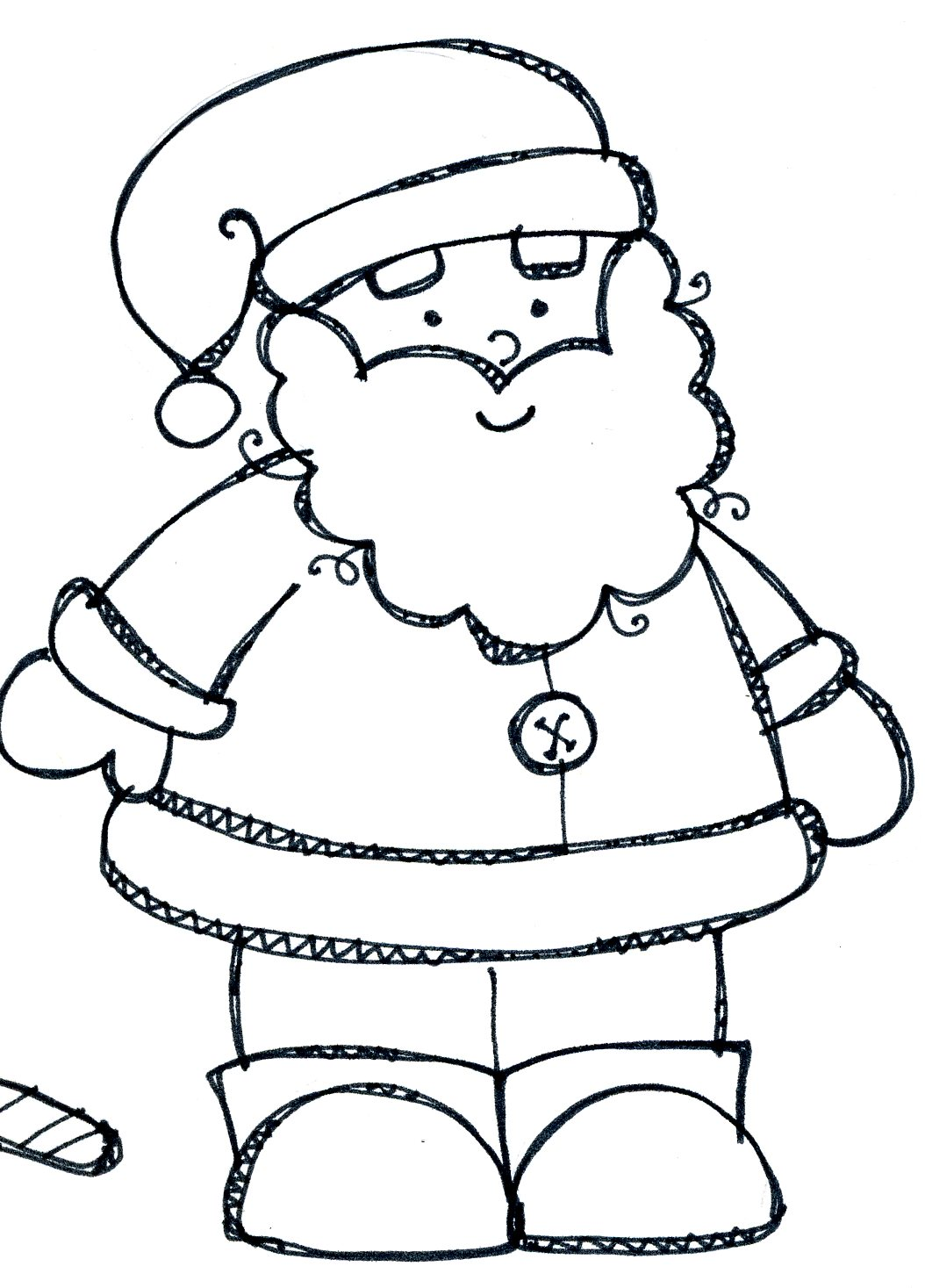1054x1467 Black And White Clipart Of Santa