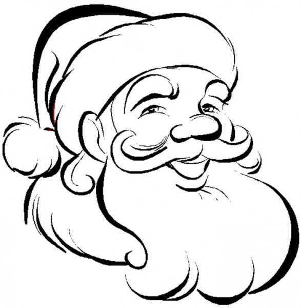 587x600 Santa Claus Clipart Black And White 5 Nice Clip Art