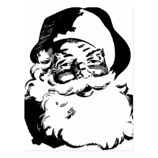 324x324 Black And White Santa Claus Postcards Zazzle