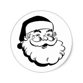 324x324 Black And White Santa Claus Stickers Zazzle