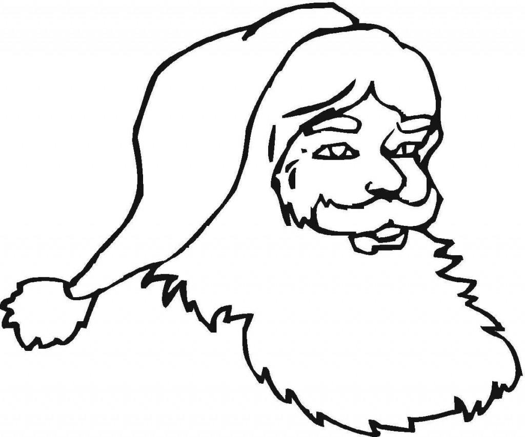 1024x853 Clip Art Santa Claus Clip Art Black And White
