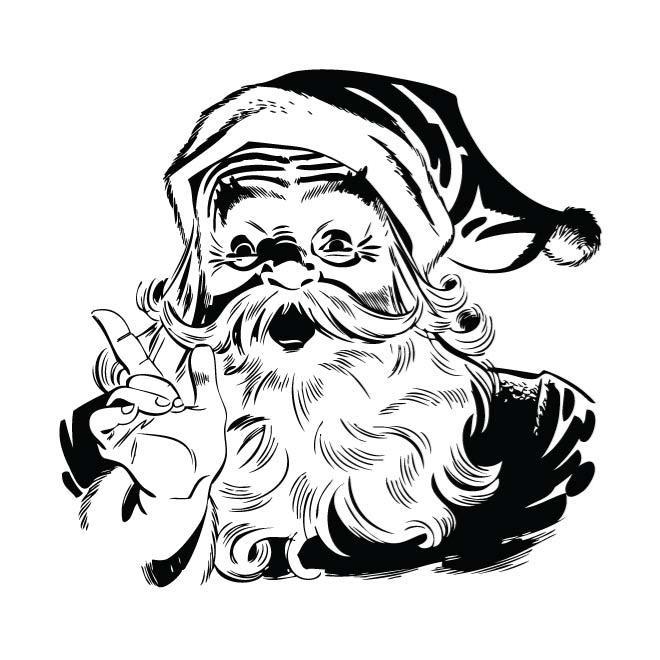 660x660 Santa Claus Black And White