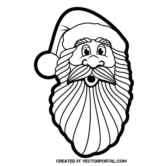660x660 Santa Claus Vector Clip Art