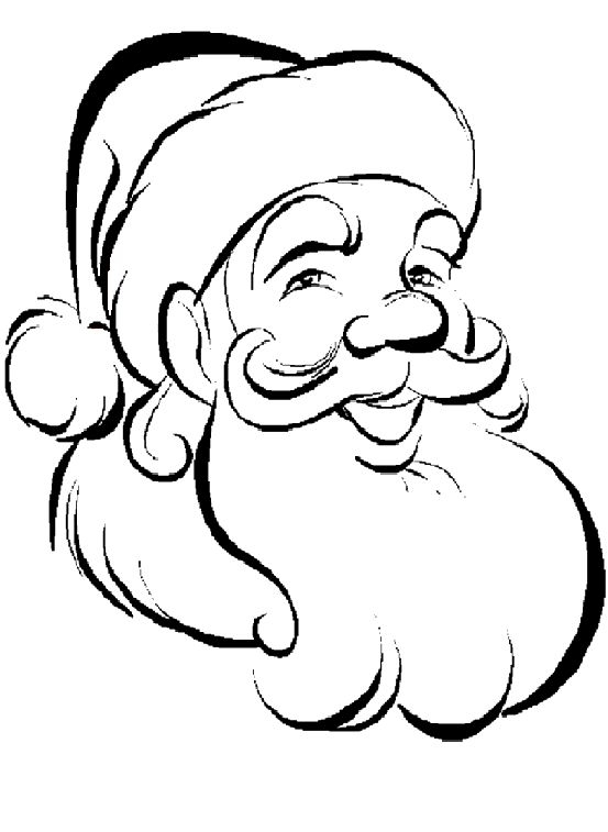 553x757 Santa Claus Drawing Black And White