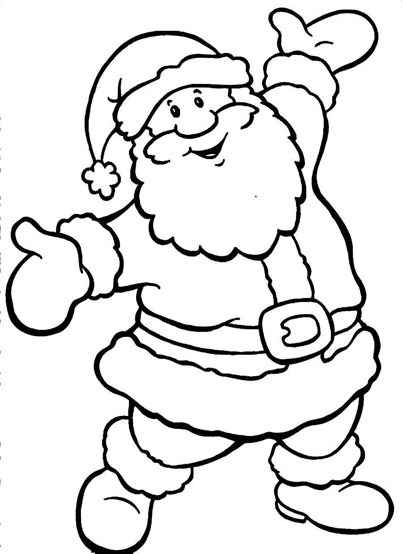 900x1240 Santa Clipart Coloring