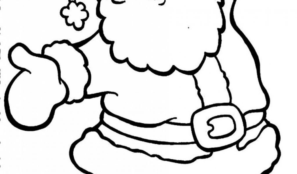 1024x600 Santa Claus Clipart Coloring Pages