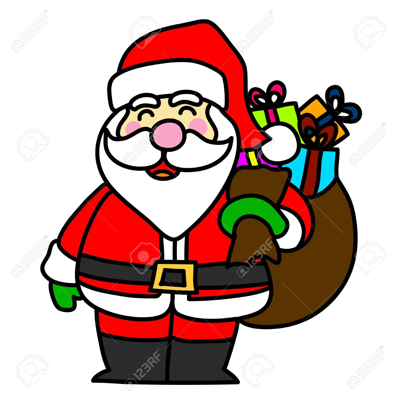 1299x1300 Cartoon Santa Claus Royalty Free Cliparts, Vectors, And Stock