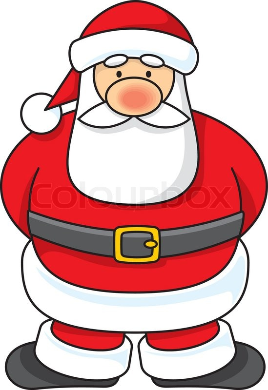 549x800 Cartoon Illustration Of A Santa Claus Standing. Stock Vector