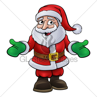 325x325 Christmas Santa Claus Cartoon Gl Stock Images