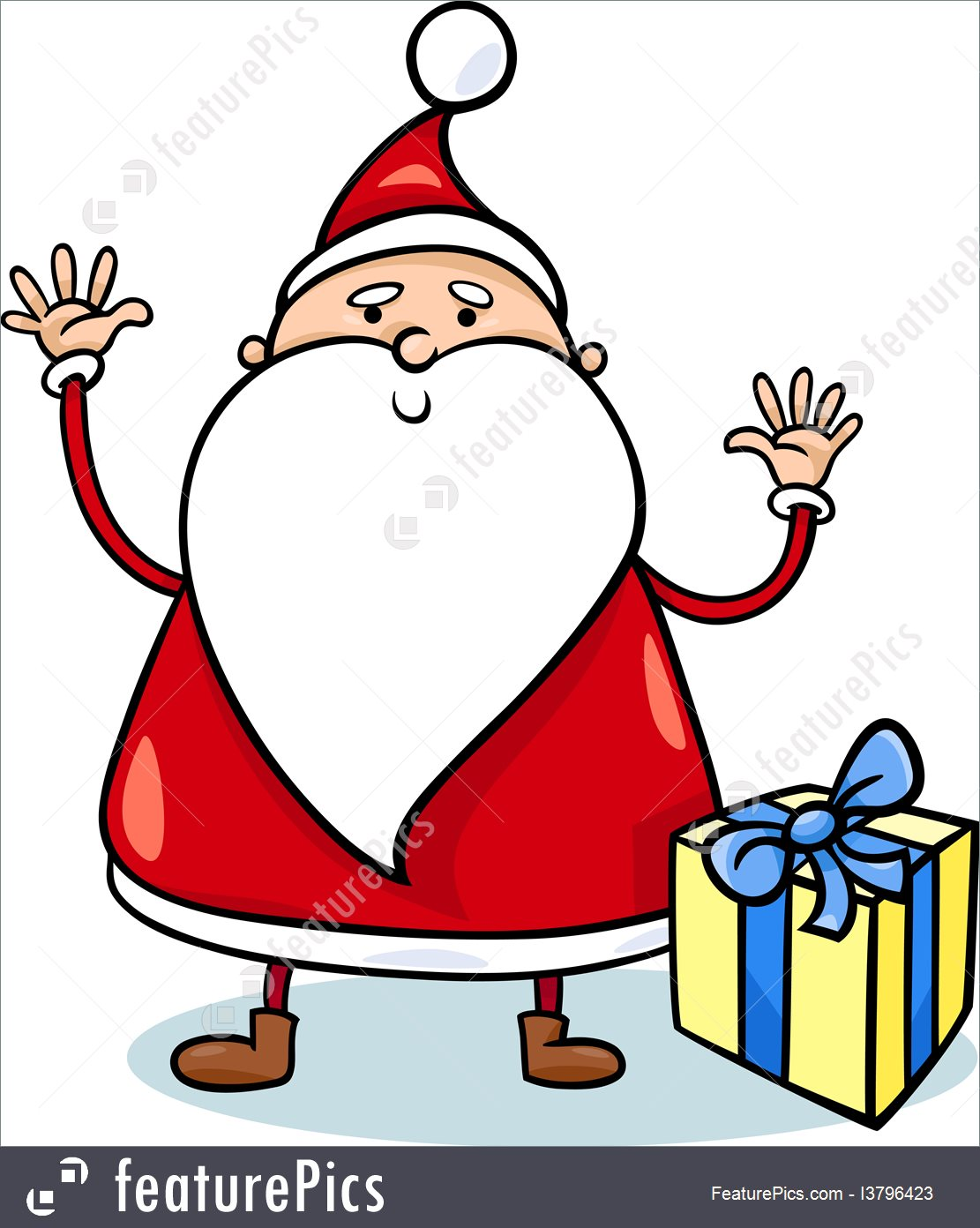 1111x1392 Illustration Of Cute Santa Claus Cartoon