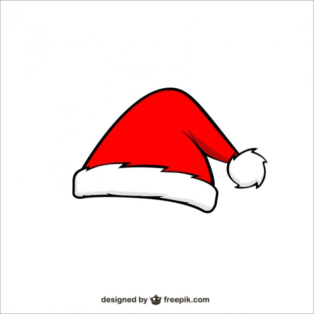 626x626 Santa Claus Cartoon Hat Free Vector 123freevectors
