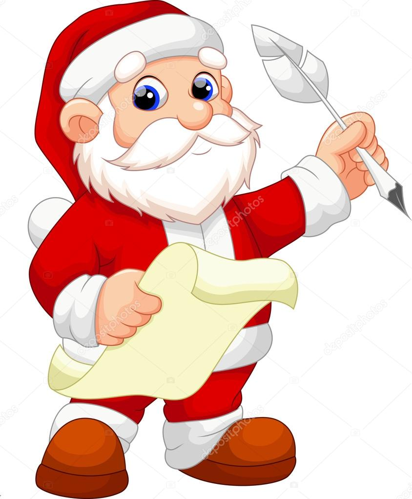 844x1023 Santa Claus Cartoon Stock Vector Irwanjos2