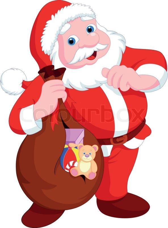 592x800 Santa Claus Cartoon Stock Vector Colourbox