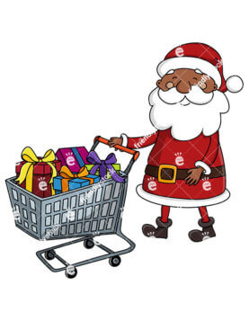 277x357 Black Santa Claus Cartoon Vector Images Bundle