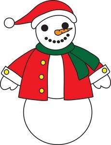 230x300 Free Snowman Clipart Image