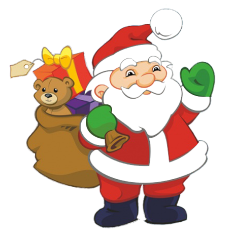 455x472 Funny And Free Santa Claus Clipart