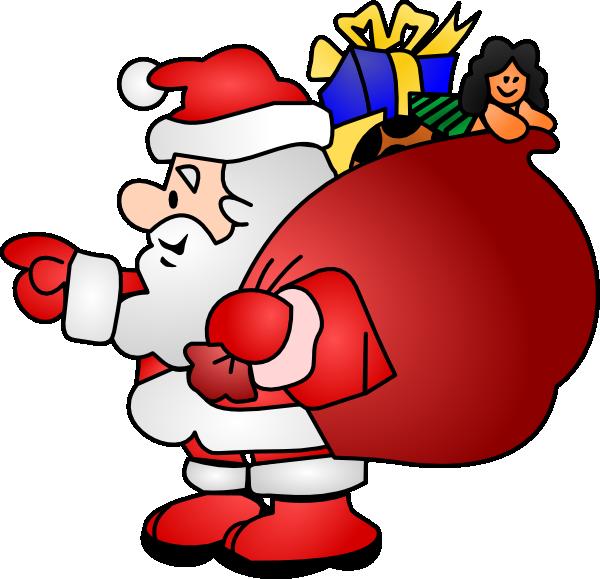 600x579 Santa Claus Clip Art