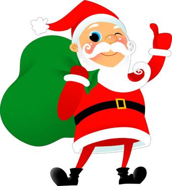 340x368 Santa Christmas Clip Art