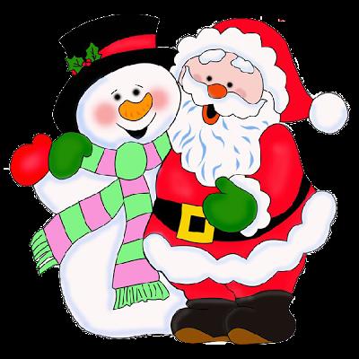 400x400 Snowman Clipart Santa Claus