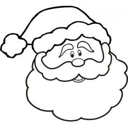 264x264 Cute Santa Claus Face Clipart