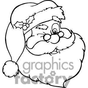 Santa Claus Clipart Black And White Free Download Best Santa Claus