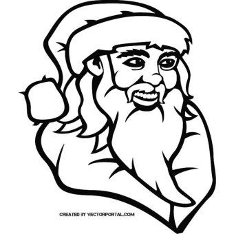 340x340 Santa Claus Clipart Images Vectors Download Free Vector Art