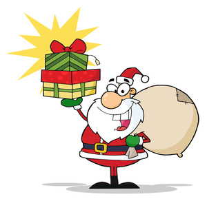 300x292 Free Christmas Presents Clip Art Image