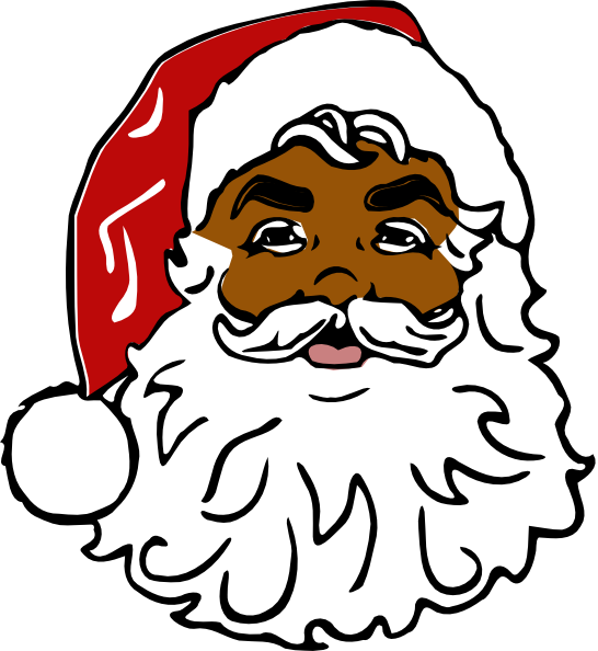 546x594 Santa Black Clip Art