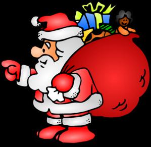 299x291 Santa Claus With His Bag Clip Art