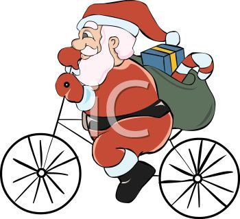 350x319 37 Best Santa Claus Cycling