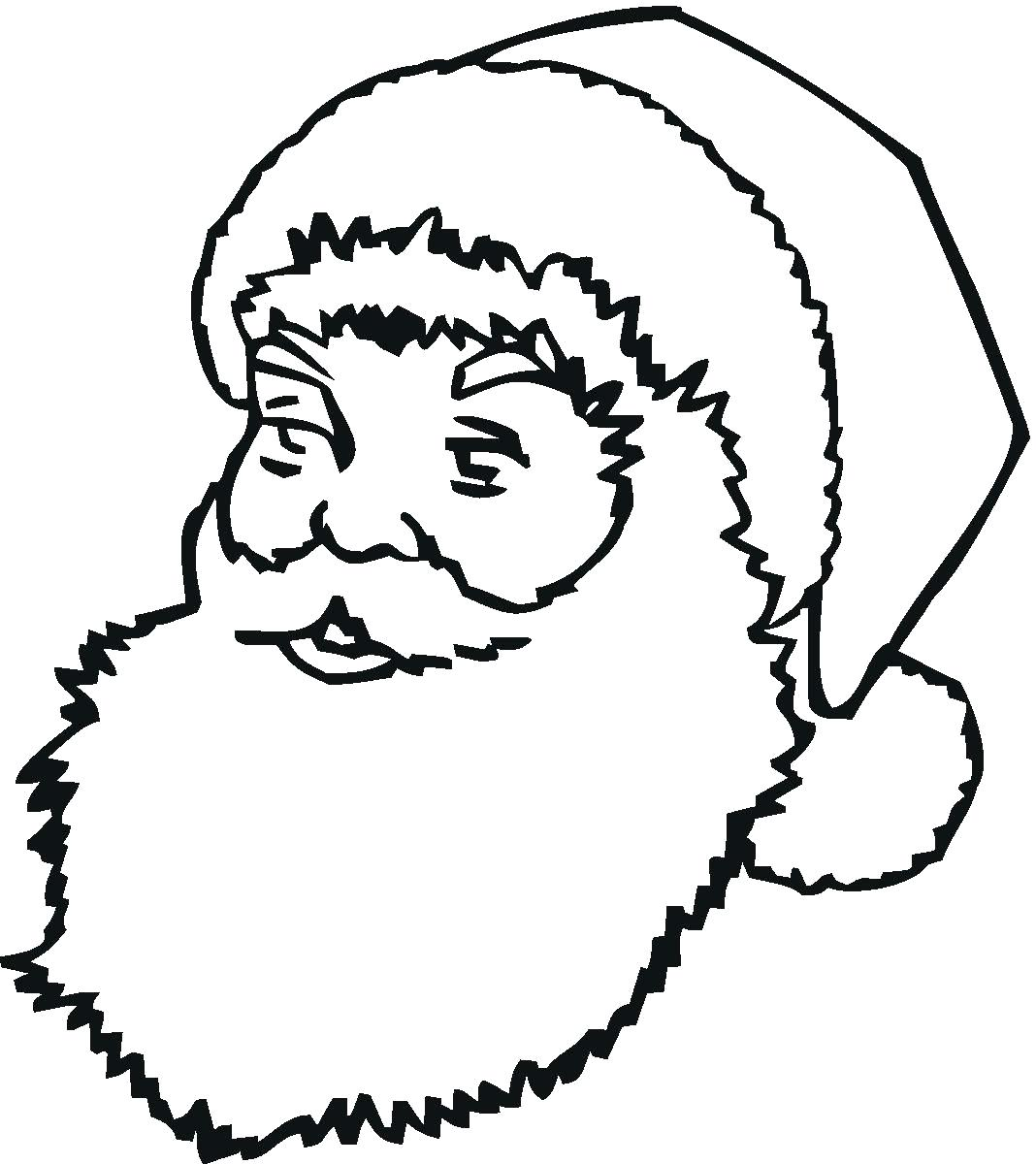 1068x1200 Coloring Glamorous Santa Claus Pages