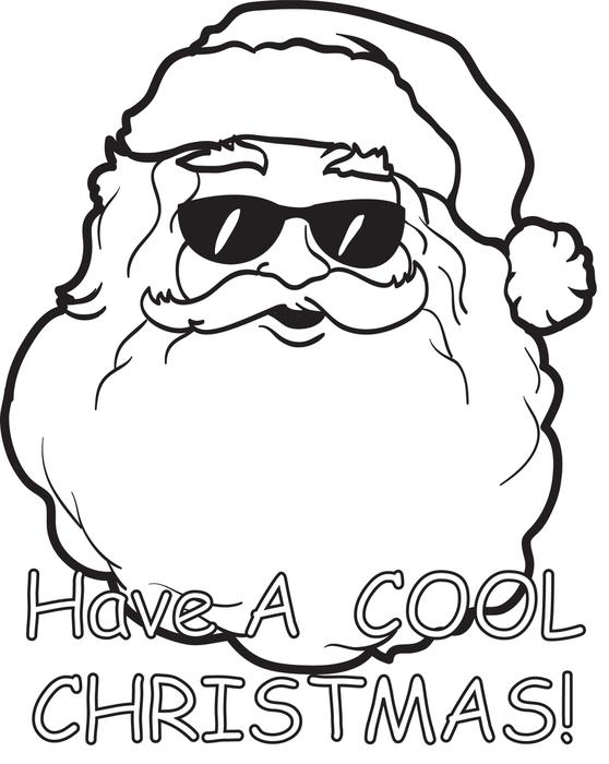 558x700 free printable santa claus coloring page for kids