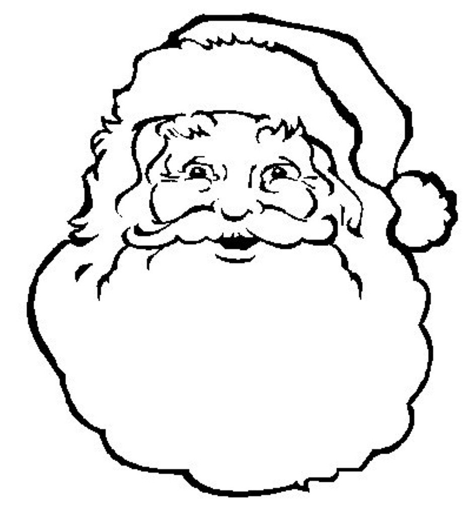 934x1020 face of santa claus coloring pages free christmas coloring pages - Santa Claus Coloring Printables