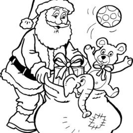 268x268 Free Printable Santa Claus Coloring Pages For Kids Santa Coloring