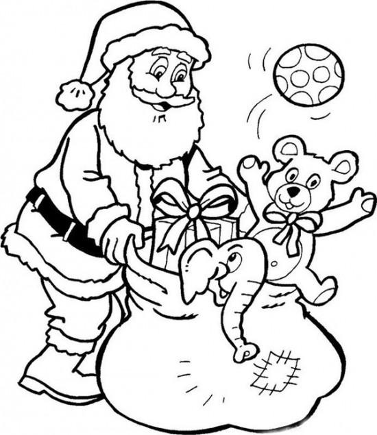550x635 Printable Santa Claus Coloring