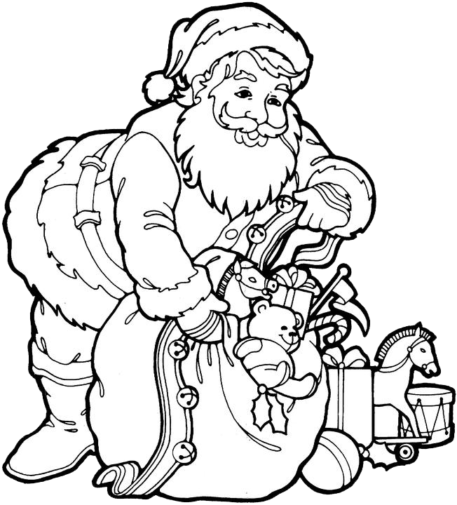 652x720 santa claus coloring pages 3 purple kitty downloads