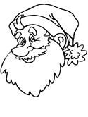 125x166 Santa Claus Coloring Pages