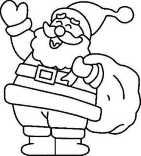 580x638 Santa Coloring Page Santa Claus Coloring Pages