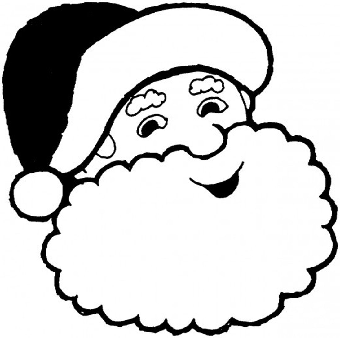 1097x1093 smiling santa claus coloring pages christmas coloring pages