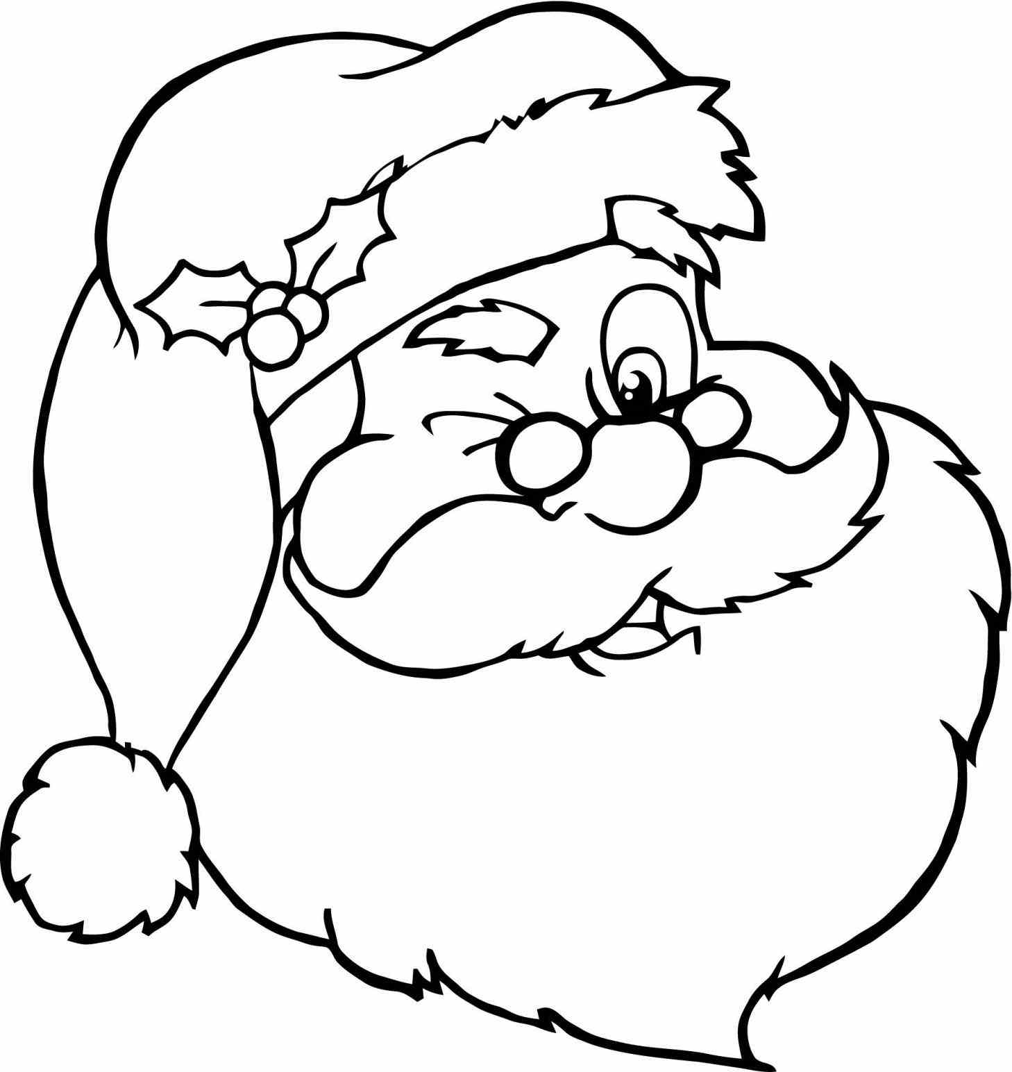 1458x1544 Coloring Pages Kids Face Santa Claus Coloring Page Of Santa