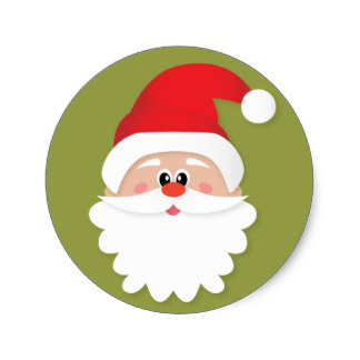324x324 Custom Santa Claus Face Stickers Zazzle.ca