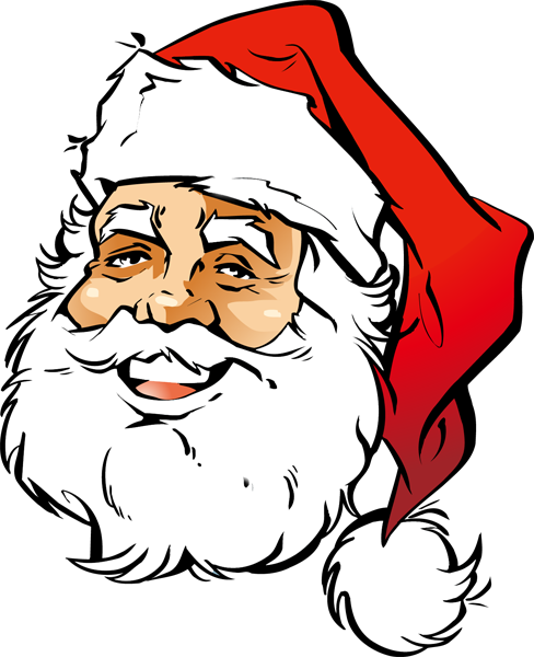 488x600 Face Clipart Father Christmas